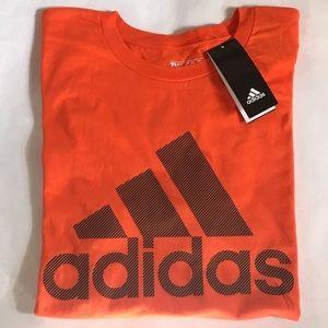Adidas Men's Crewneck Cotton T-Shirt Orange Large